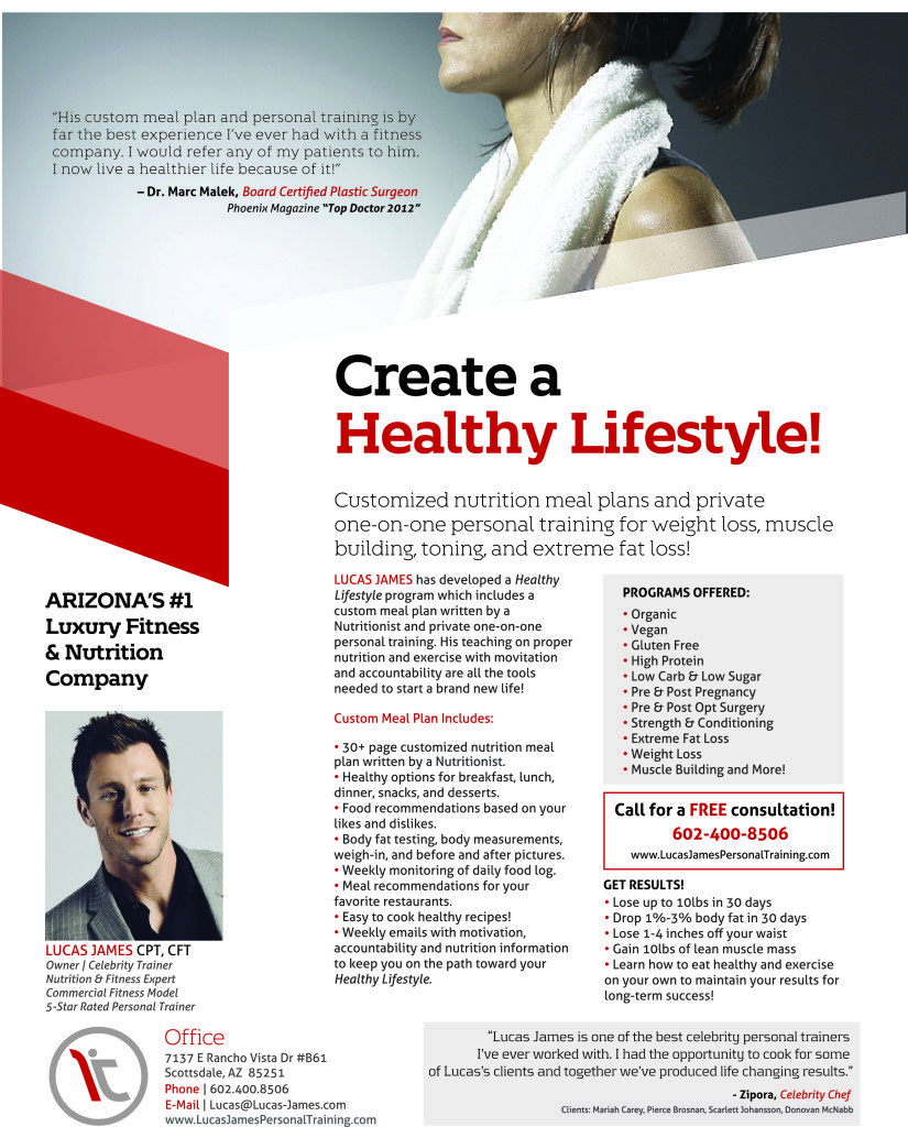 Lucas James Healthy Lifestyle Flyer FINAL 825x1024 Create a NEW Healthy Lifestyle Today!