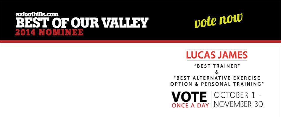 VOTE Lucas James 2014 Best Trainer & Best Personal Training Award
