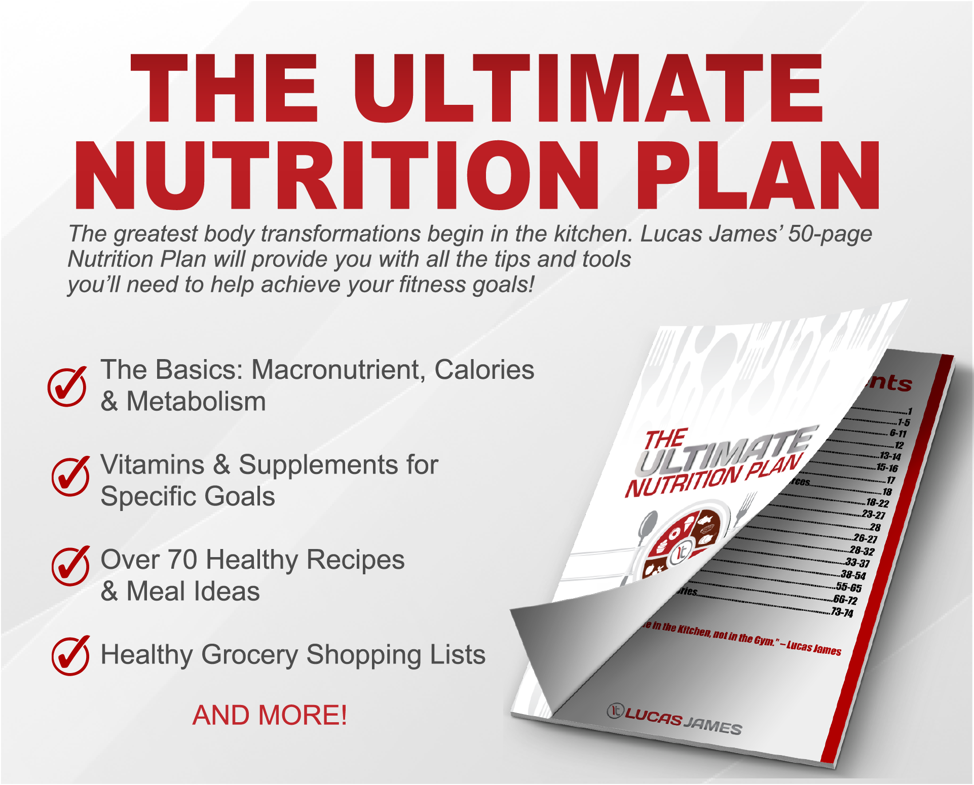 The Ultimate Nutrition Plan