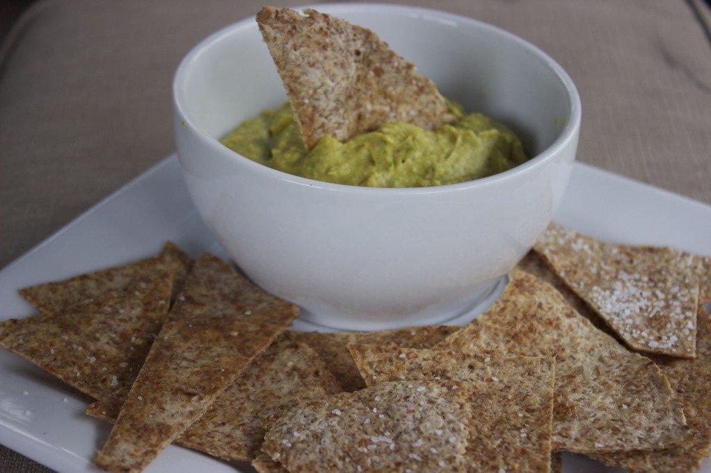 Baked Ezekiel Chips & Guacamole