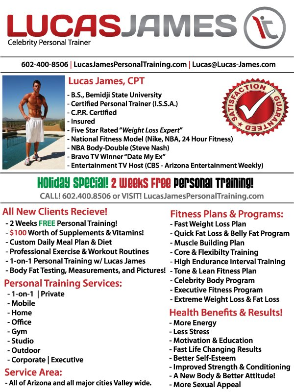 Lucas James Celebrity Personal Trainer Weight Loss Expert 2011 New Years Resolution to Lose Weight?