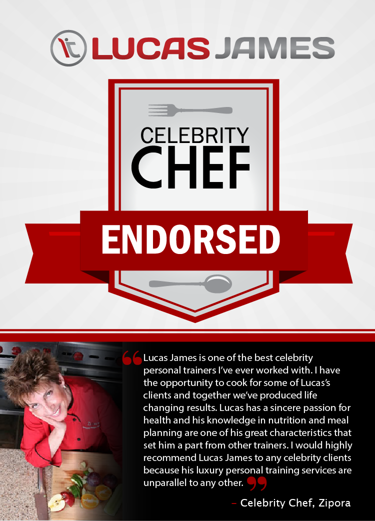 Lucas James - Celebrity Chef Endorsed