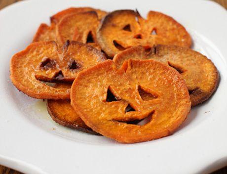 Jack-O-Lantern Sweet Potatoes