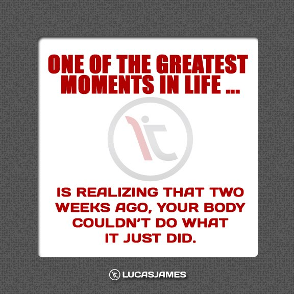 Fitness Motivation: One of the Greatest Moments