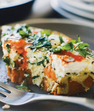Healthy Sweet Potato Spinach Frittata