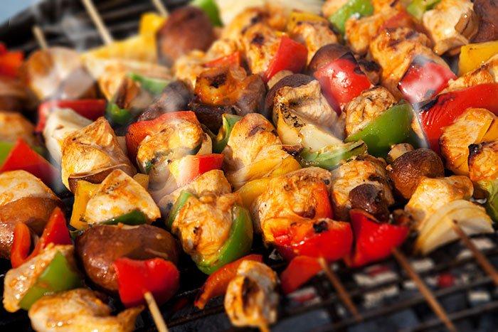 Grilled Chicken & Veggie Skewers