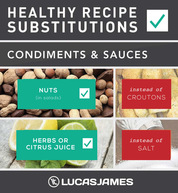 Healthy Recipe Substitutions: Condiments & Sauces