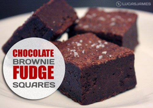 Chocolate Brownie Fudge Squares