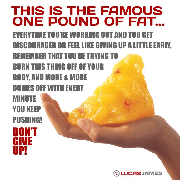 Fitness Motivation: One Pound of Fat