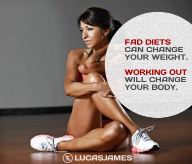 Fad Diets vs. Working Out