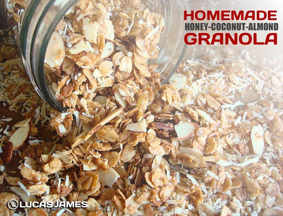 Homemade Honey Coconut Almond Granola