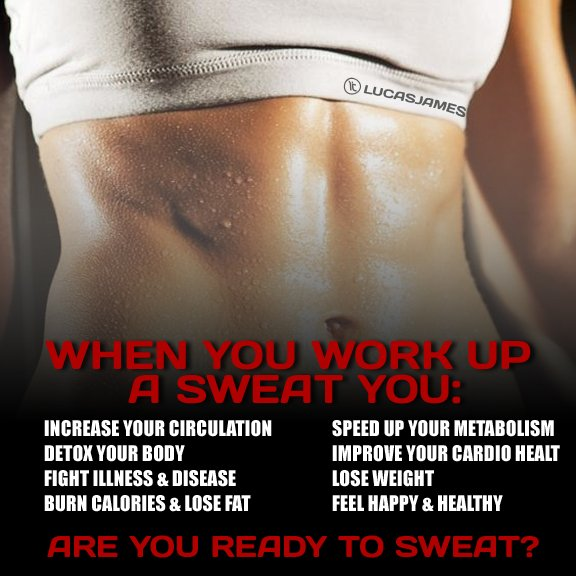The Benefits of Sweating