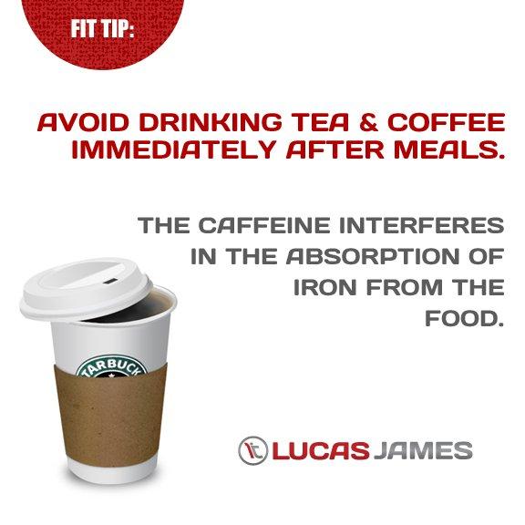 Fit Tip: Caffeine After Meals