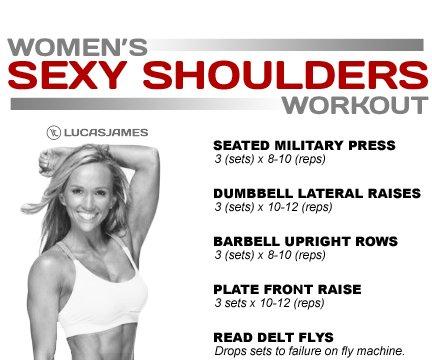 women's sexy shoulder workout
